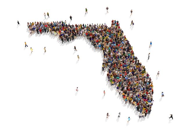 People visiting Florida