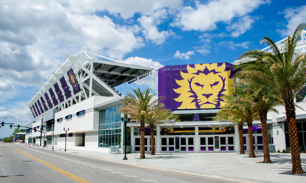 Orlando City Soccer Stadium home of the Orlando City Lions. Located in Orlando Florida. Now renamed Exploria Stadium.